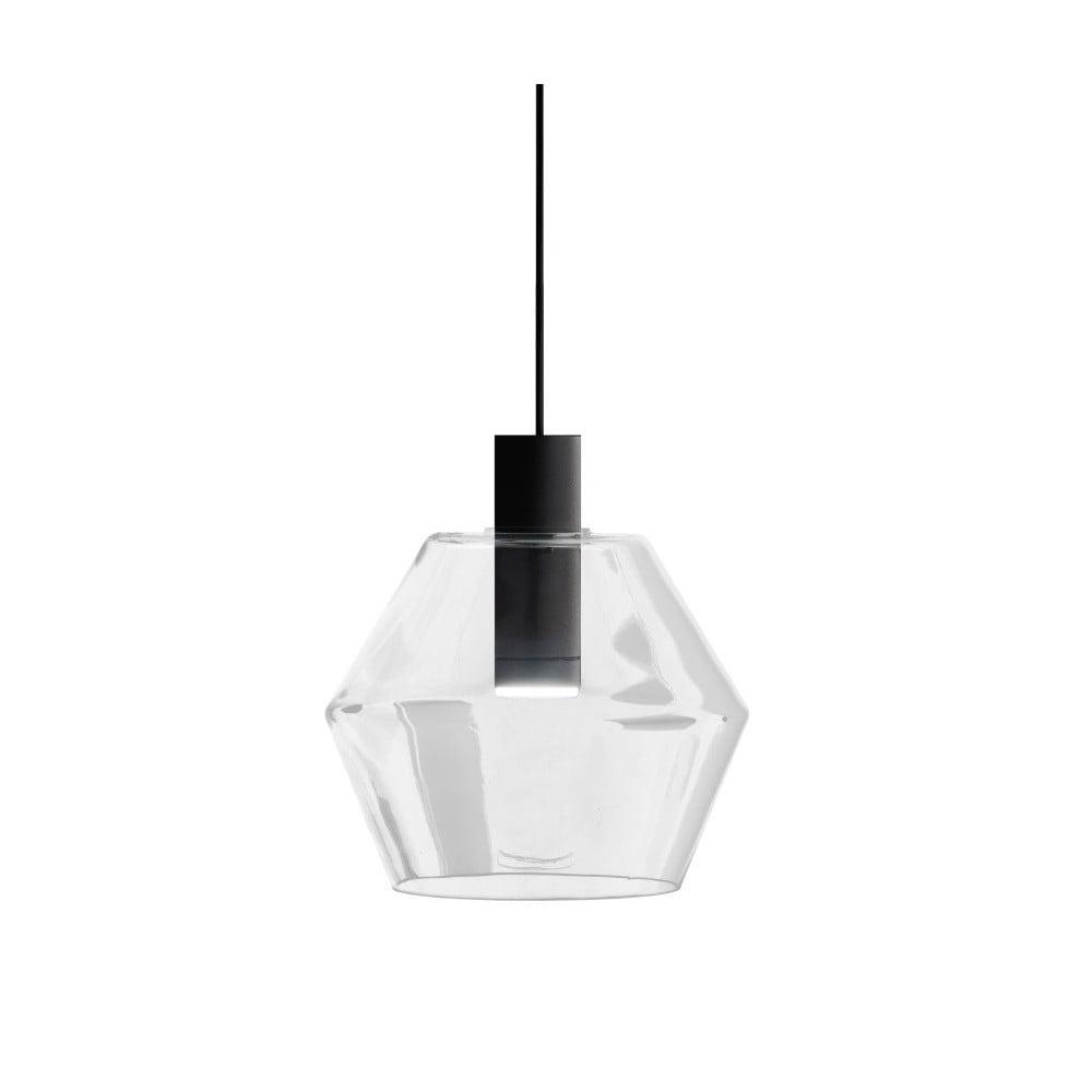 Čierno-biele závesné svietidlo Markslöjd Diamant