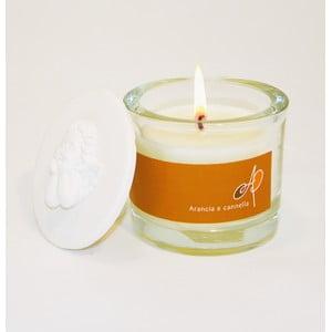 Aromatická sviečka THD Fragnances, pomaranč so škoricou
