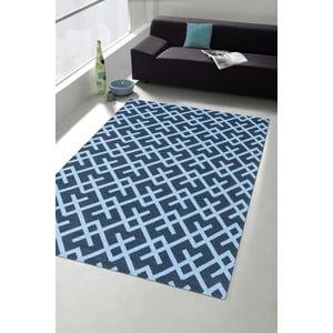 Vysokoodolný kuchynský koberec Labyrinth Blue, 60x220 cm
