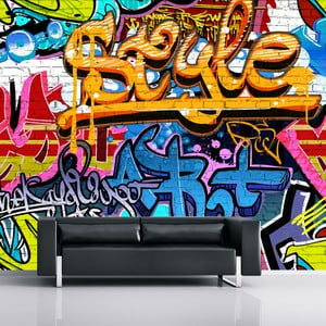 Veľkoformátová tapeta Graffiti, 315x232 cm