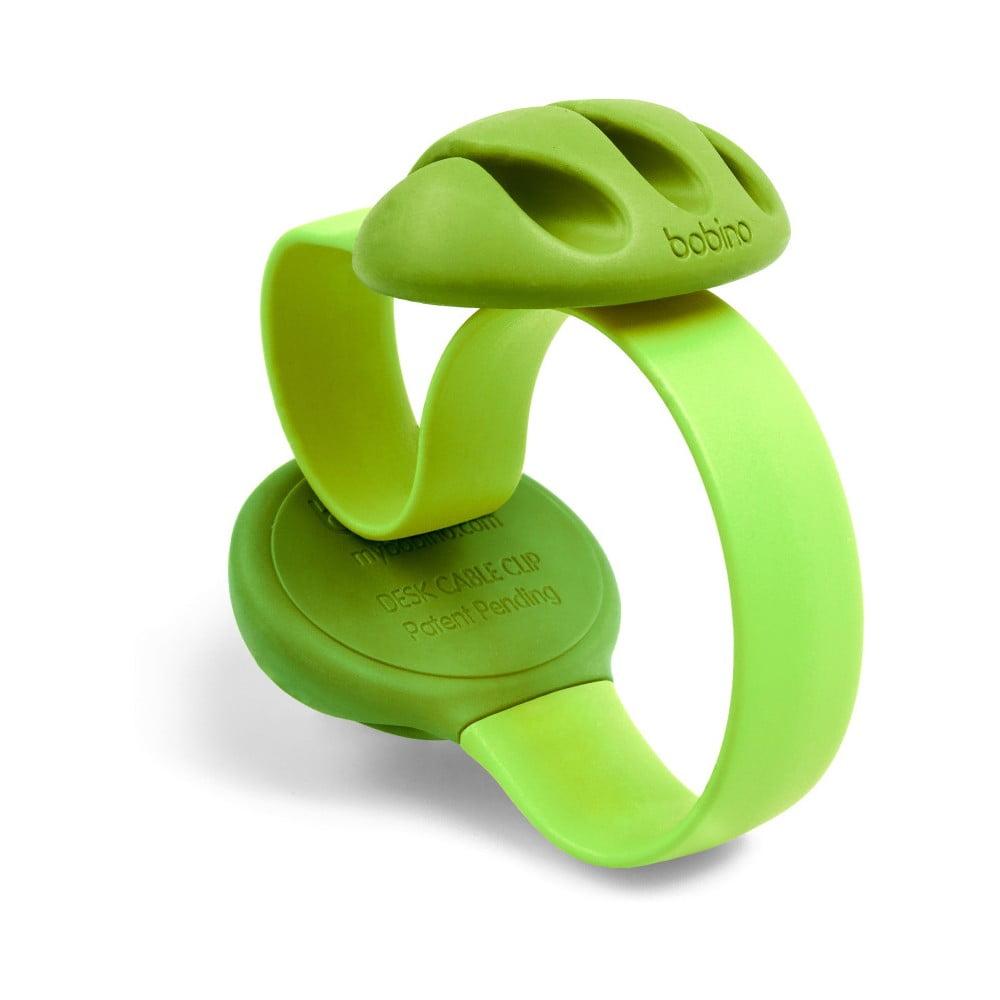 Zelená úchytka na káble na stôl Bobino Cable Clip