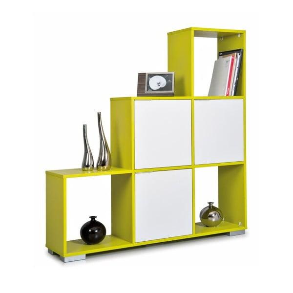 Knižnica Decolour, zelená/biela