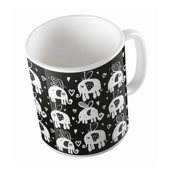 Keramický hrnček Flying Elephants, 330 ml