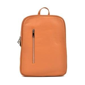 Koňakovohnedý dámsky kožený batoh Carla Ferreri Murio