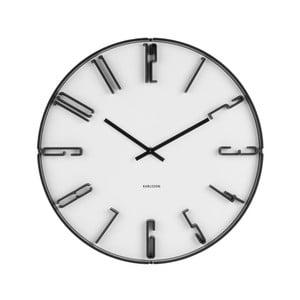 Biele nástenné hodiny Karlsson Sentient, Ø40cm