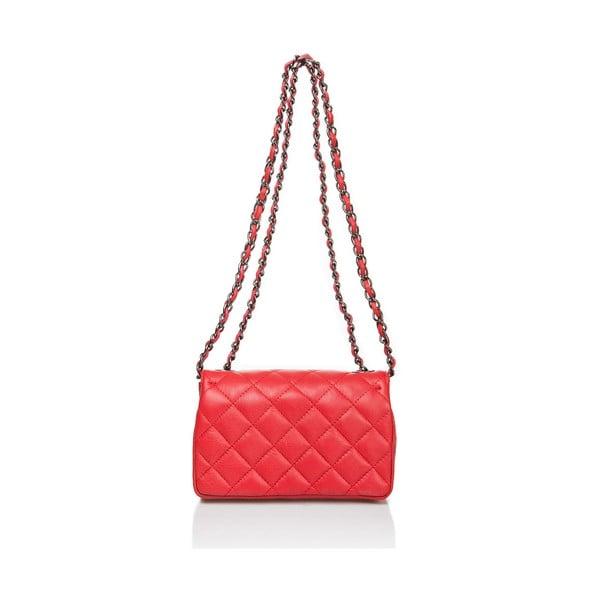Červená kožená kabelka Markes Nappa