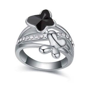 Prsteň s krištáľmi Swarovski Empathy Nera, veľkosť 52