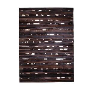 Kožený koberec Leap Brown, 170x240 cm