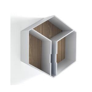 Nástenná polica z dubového dreva Tomasucci Kubo