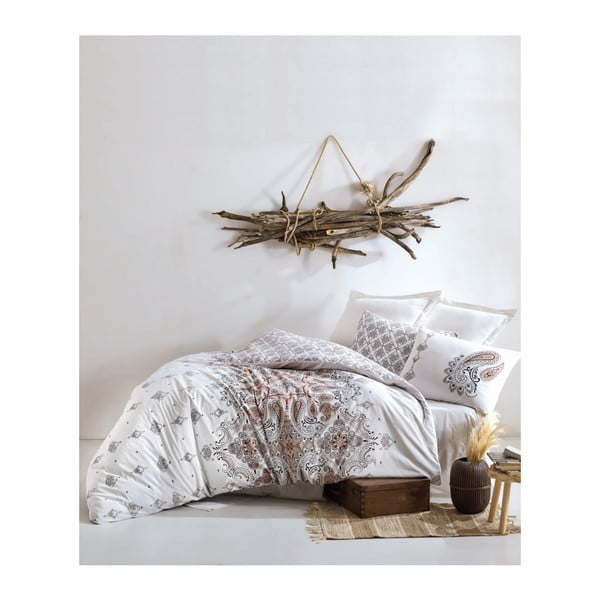 Bavlnené obliečky s plachtou na jednolôžko Materro Callito, 160 × 220 cm