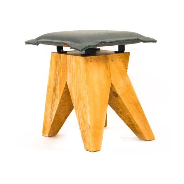 Drevená stolička Low, sivá