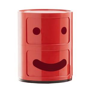 Červený kontajner s 2 zásuvkami Kartell Componibili Smile