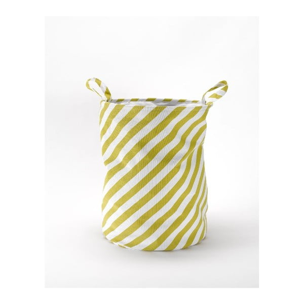 Úložný kôš Stripes Mustard