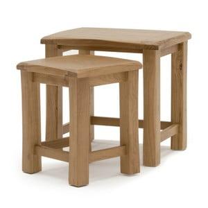 Sada 2 stolčekov z dubového dreva VIDA Living Breeze