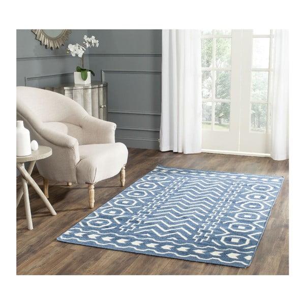 Vlnený koberec Kent Blue, 121x182 cm