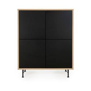 Čierna skriňa Tenzo Flow, 111 x 137 cm