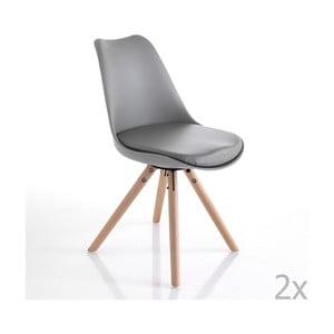 Sada 2 sivých jedálenských stoličiek Tomasucci Kiki Wood
