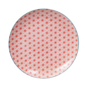 Červený porcelánový tanier Tokyo Design Studio Star, ⌀ 25,7 cm