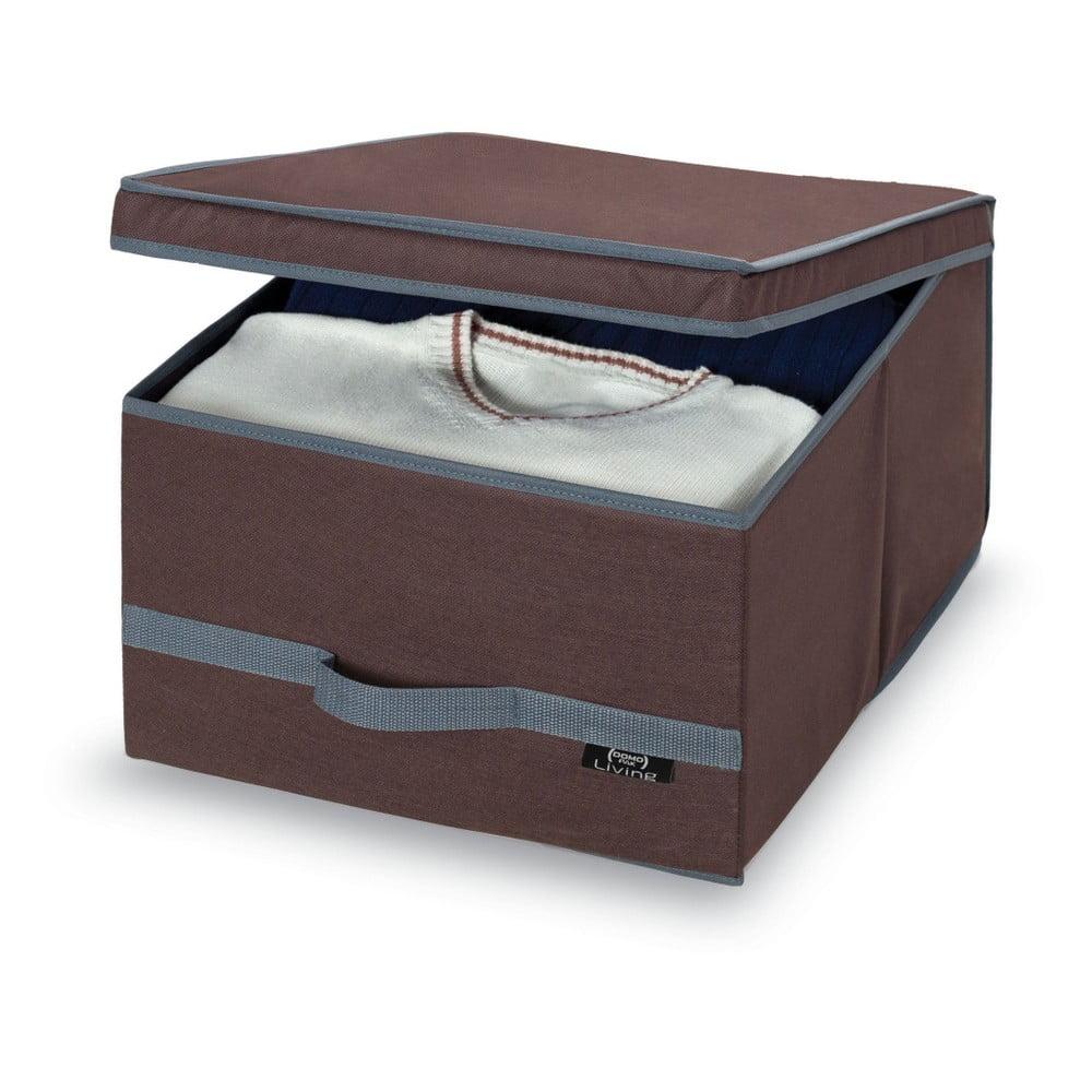 Hnedý úložný box Domopak Living, 24 x 50 cm