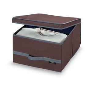 Hnedý úložný box Domopak Living, 24x50cm
