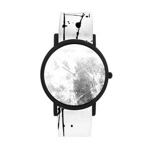 Unisex hodinky s bielo-čiernym remienkom South Lane Stockholm Avant Diffuse Invert
