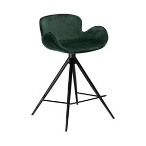 Tmavozelená barová stolička DAN–FORM Denmark Gaia Velvet, výška 87 cm