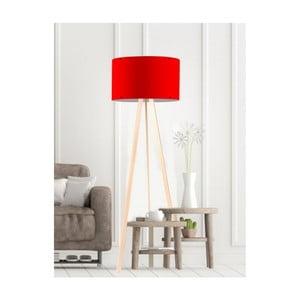 Červená stojacia lampa Simple