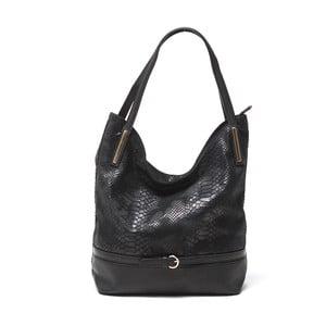 Kožená kabelka Adona, čierna