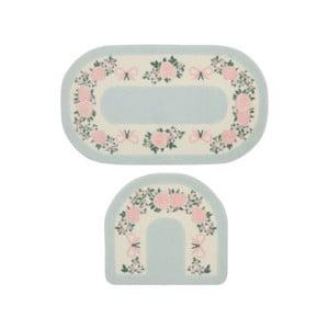 Sada 2 predložiek do kúpeľne Confetti Bathmats Rose Frame