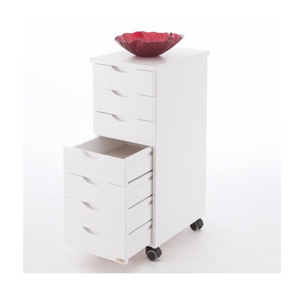 Biele pojazdné zásuvky z bukového dreva Arredamenti Italia Afrodite