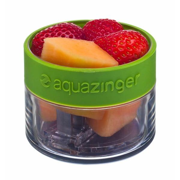 Aquazinger, fľaša na vodu a ovocie, zelená