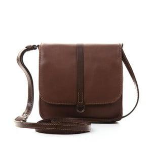 Hnedá kožená kabelka Gianni Conti Laura
