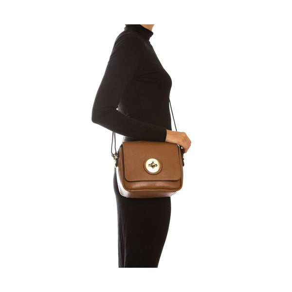 Hnedá kožená kabelka Sofia Cardoni Roberta