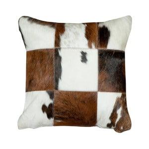 Vankúš z pravej kože Pipsa Normand Cow, 45×45 cm