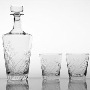 Ateliér Žampach, whisky set Ľan s dvoma kalíškami 330 ml