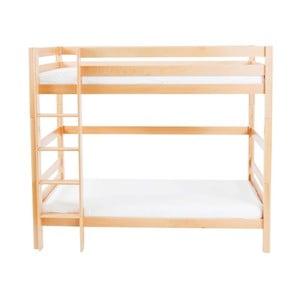Detská poschodová posteľ z masívneho bukového dreva Mobi furniture Daniel, 200×90cm