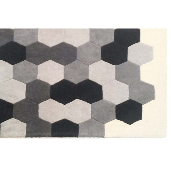 Koberec Delaware Grey Ivory, 153x244 cm