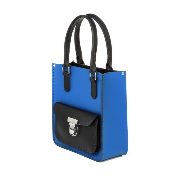 Kožená kabelka Taylor Mini Tote Royal Blue/Black