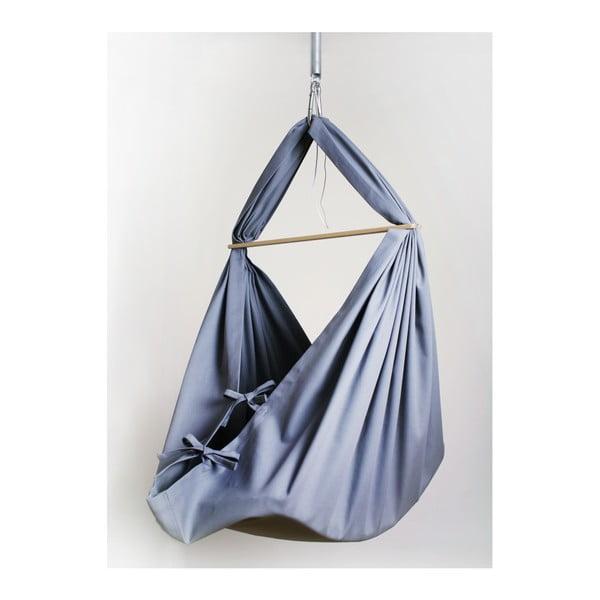Sivá kolíska so zavesením do stropu Hojdavak Baby