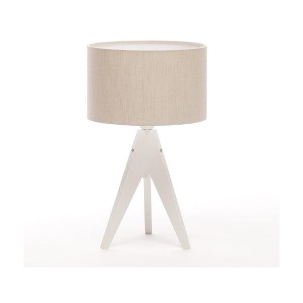 Stolná lampa Artista White/Beige Linnen, 28 cm