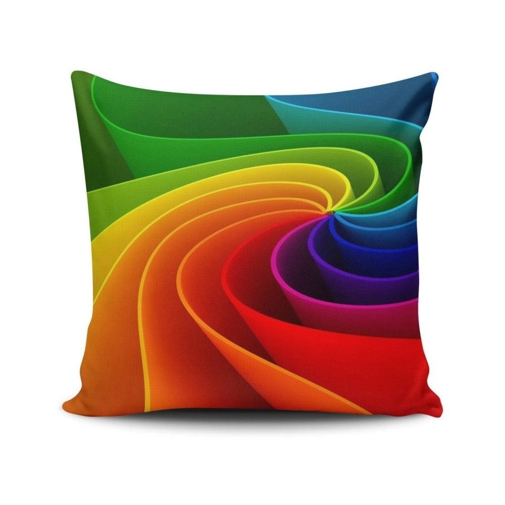 Vankúš s výplňou Rainbow Road, 45 x 45 cm