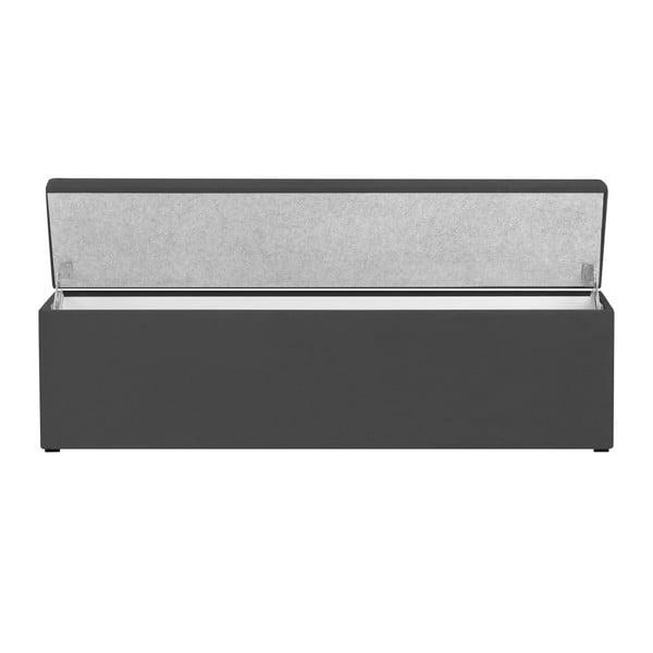 Tmavosivá leňoška s úložným priestorom Windsor & Co Sofas Astro, 160×47 cm