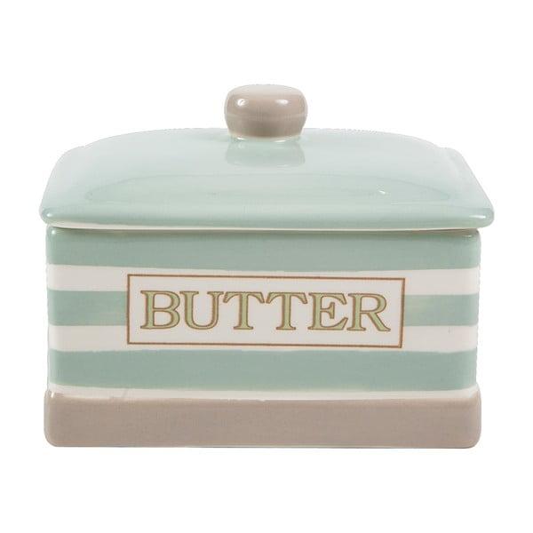 Nádoba na maslo Woodware Mint Stripe
