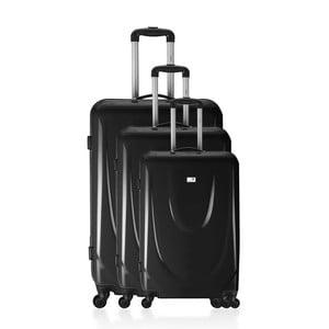 Sada 3 kufrov Integra Black Elegant, 114 l / 75 l / 46 l