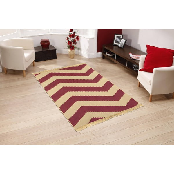 Koberec Zigzag Claret Red, 80x150 cm