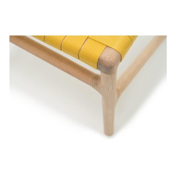 Stolička Fawn White Pigment Gazzda, žltá