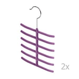 Sada 2 fialových vešiakov na kravaty Bonita Living