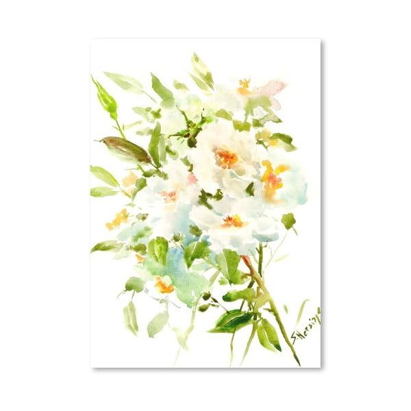 Plagát White Flowers od Suren Nersisyan