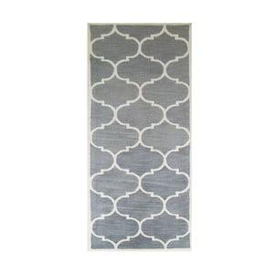 Ručne tuftovaný strieborný koberec Bakero Florida, 78 x 244 cm