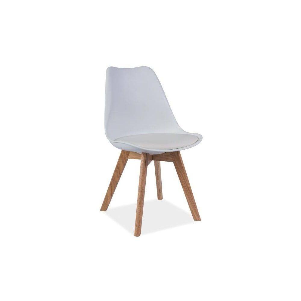 298f0a5faacc Biela stolička s dubovými nohami Signal Kris